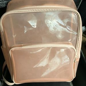 Vince Camino clear/blush backpack